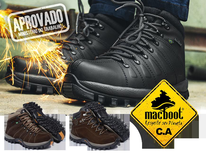 Calçado ocupacional tipo bota, confeccionado em couro curtido ao cromo,  fechamento em atacador, forrado, palmilha de montagem em não tecido fixada  pelo ... 6e25cde5f5