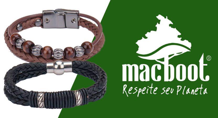 Pulseiras masculinas de couro da Macboot: Confira modelos surpreendentes
